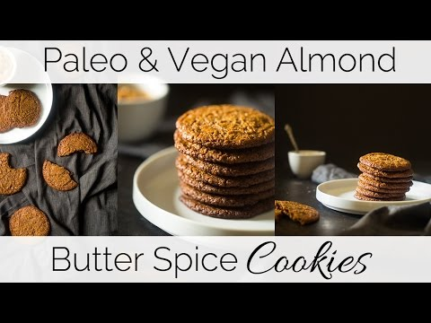 How to make Paleo & Vegan Almond Butter Spice Cookies