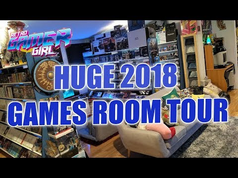 Huge 2018 Game Room Tour 50+ Systems & 2000+ Games Australia | Retro Gamer Girl