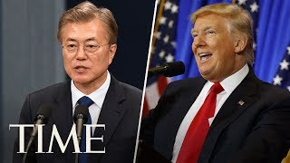 President Trump And President Moon Give Statements On US And South Korea Relations | TIME