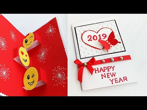 How to make new year pop up card // Handmade New Year Card Idea...