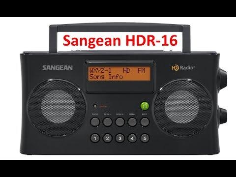 la radio FM HD digitale à Montréal en mai 2017 sur un Sangean HDR-16 107,3 fm 105,7 fm