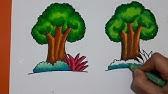 Cara Mewarnai Pohon Menggunakan Crayon How To Color Trees