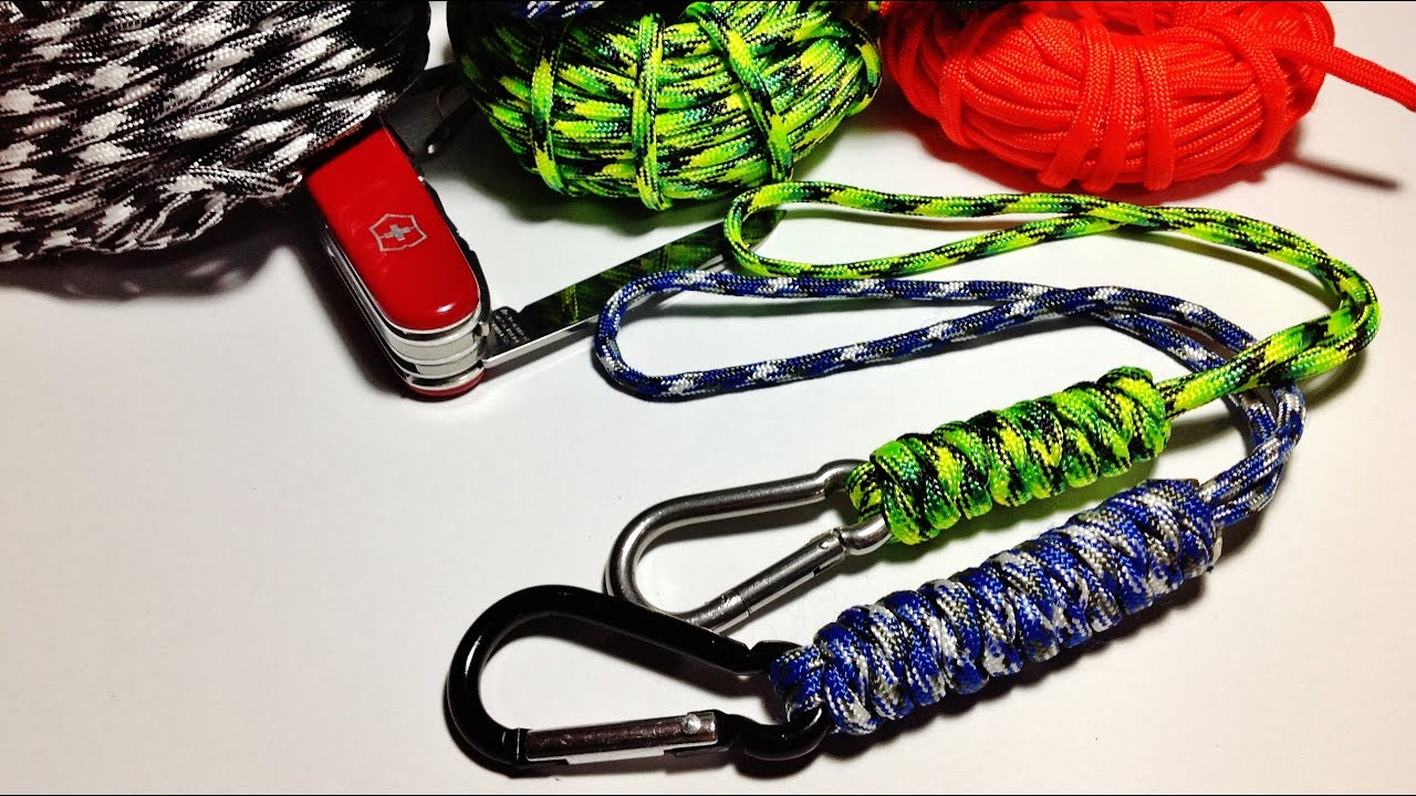 How To Make Tie Wrist Paracord Lanyard With The Snake Knot