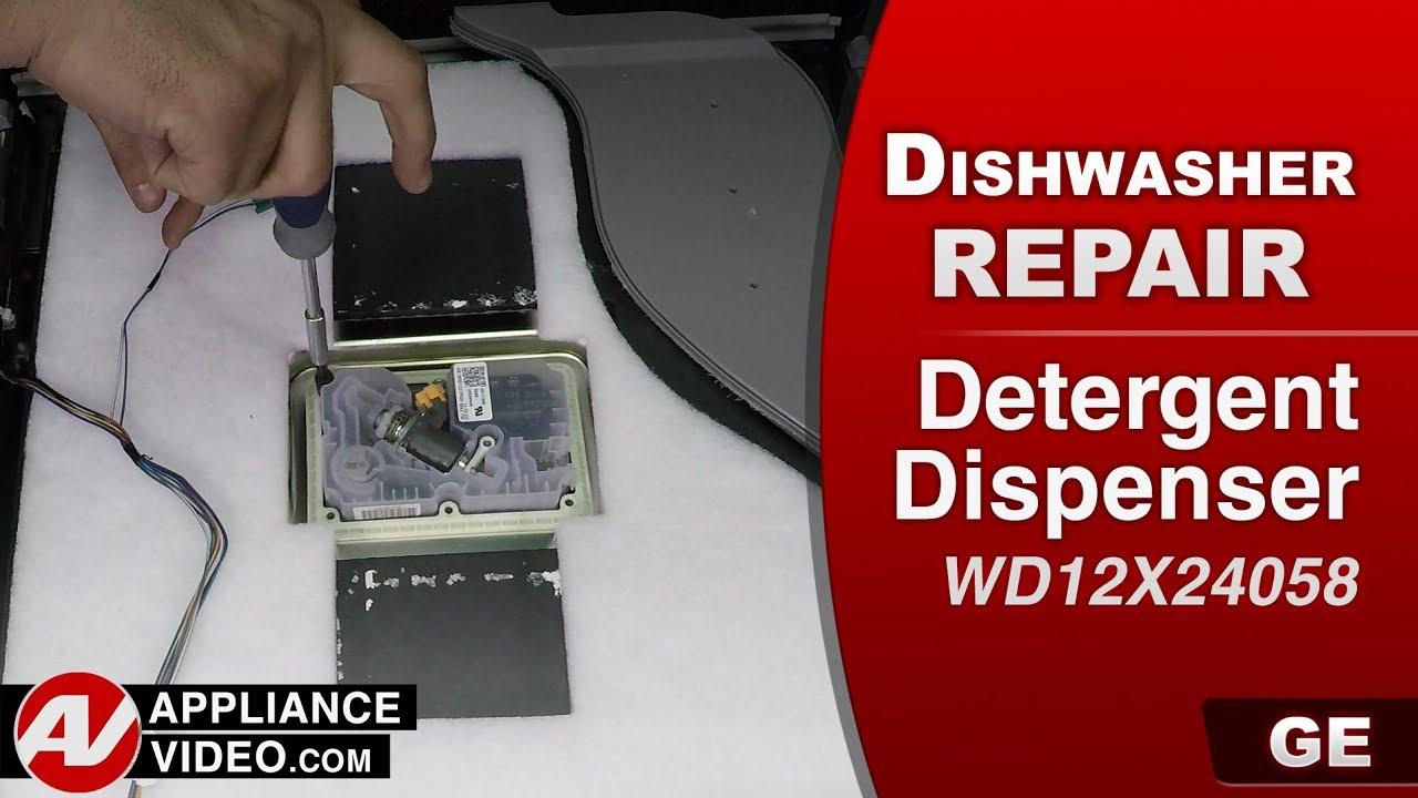 GE Dishwasher - Detergent Dispenser problems - Diagnostic & Repair
