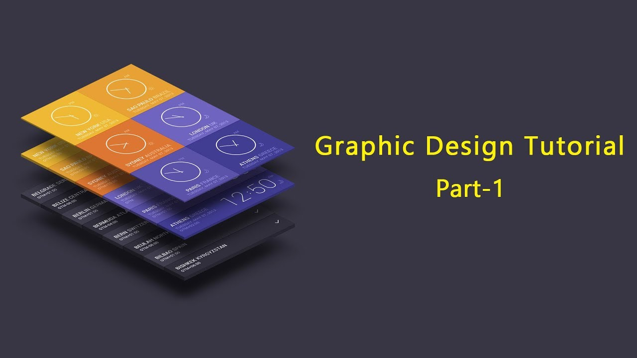 Graphic Design Tutorial For Beginners Part 1