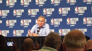Mike D'Antoni explains why the Rockets' offensive style is so different than the Warriors'