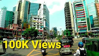 Dhaka Banani Modern City Moto Ride Views || Exploring BANGLADESH
