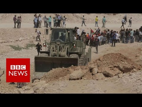 The Palestinian village facing demolition - BBC News