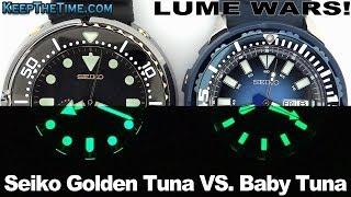 Lume Wars! Seiko Golden Tuna Vs. Baby Tuna (lumibrite)