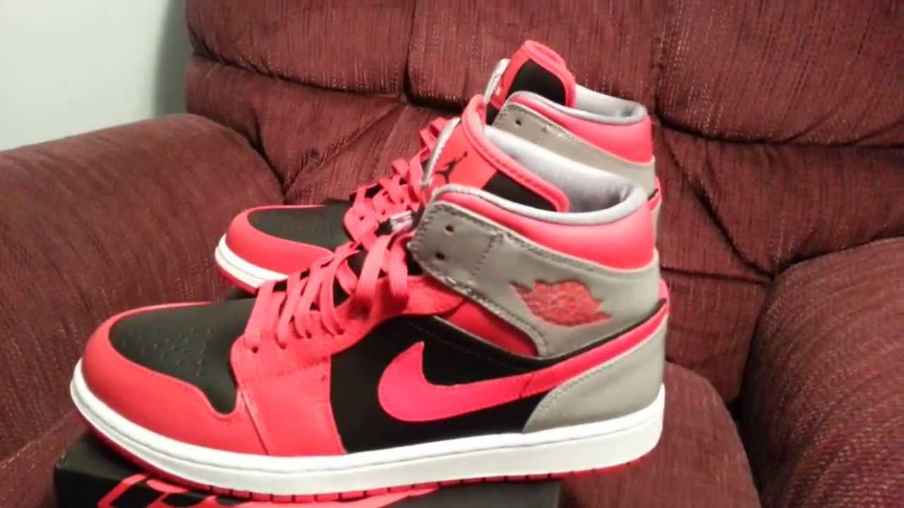 quality design 4404f 629f3 Nike Air Jordan 1 Mid Fire Red Black White 3m HD - YouTube