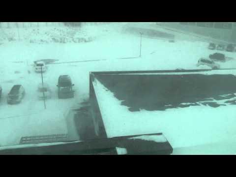Blizzard time in Reykjavik