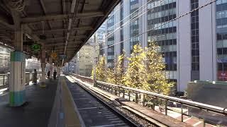 有楽町駅を通過する京浜東北線大宮行快速電車(2017年12月6日)