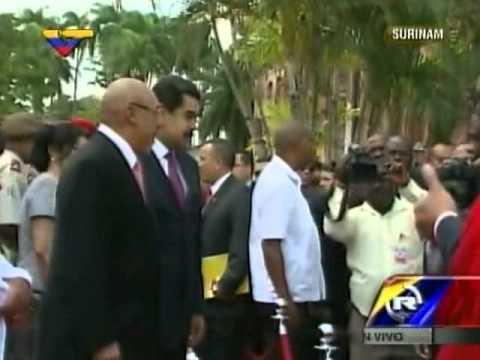Presidente Maduro en Surinam 16 de octubre