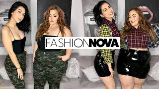 Size 4 & Size 18 Try On Fashion Nova Outfits | Fashion Nova Haul & Try On