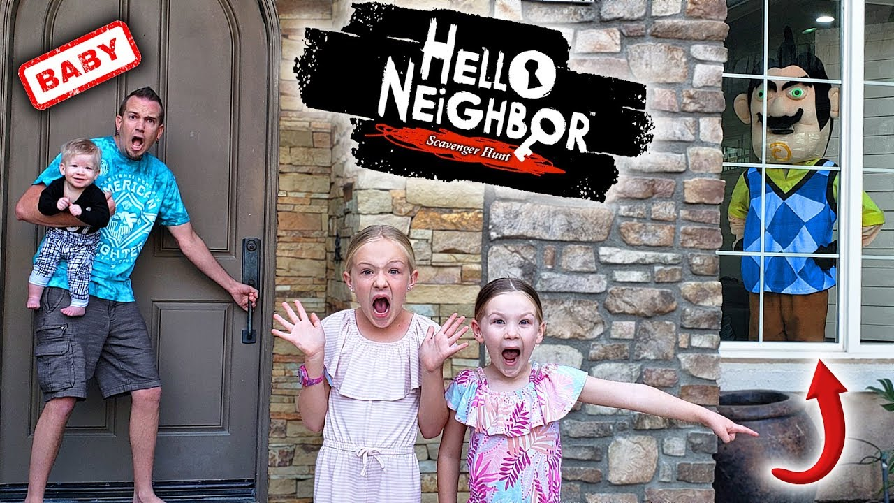 Download Hello Neighbor Steals Our Toys and Locks Us Out of Our House!!!
