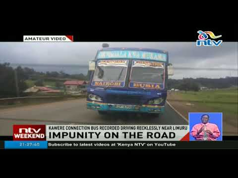 Kawere connection bus recorded driving recklessly near Limuru