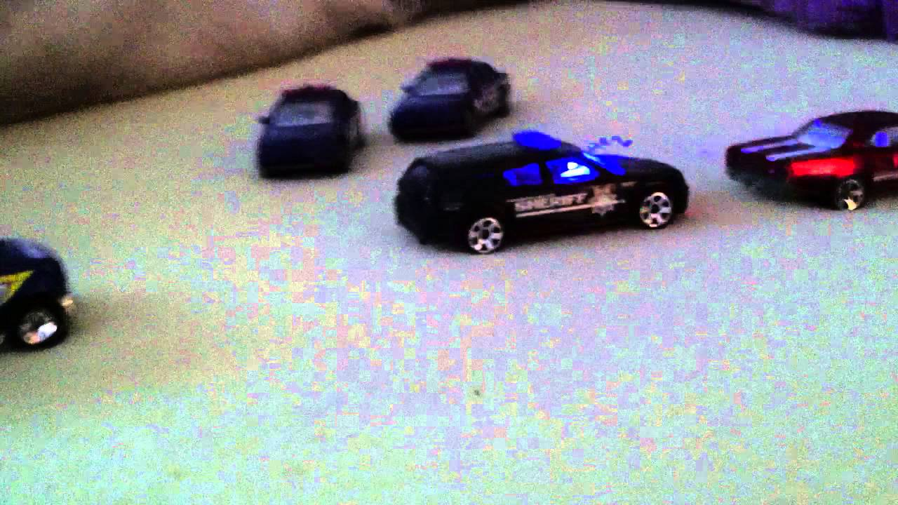 Hot Wheels Police, LED Sheriff lights, flashing red blue cop lights - toy  car