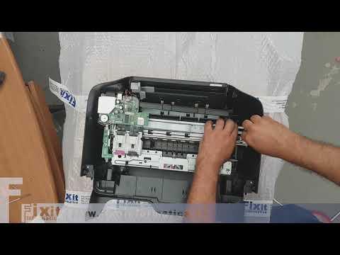 HP OfficeJet 3833 smontaggio e rimozione carta inceppata. Disassembly and paper jam removal