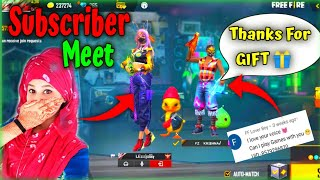 Free Fire Funny Subscriber Meet Up_- With Girl Youtuber_-im Jassy