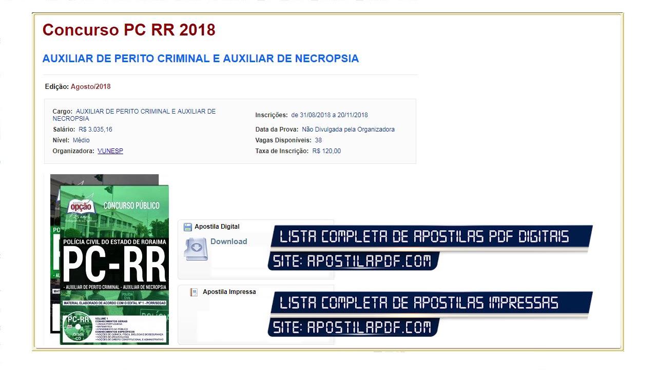 Criminal apostila pdf perito sp