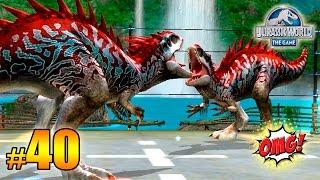 INDOMINUS REX Vs INDOMINUS REX! INCREÍBLES LUCHAS OSTAPOSAURUS LV 40 - Jurassic World The Game PT 40