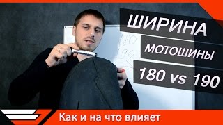 ШИРИНА МОТОШИНЫ 180 vs 190 | Как и на что влияет