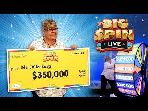 Julia Earp Wins $350,000 Playing the BIG SPIN