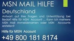 MSN HILFE +0800-181-8174 Hilfe für MSN Account Deutschland