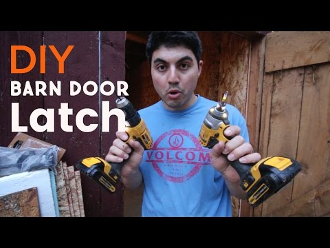 How To Install A Door Latch For A Barn Door That Works From Both