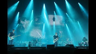 Radiohead performing live at Madison Square Garden on Tuesday, July...