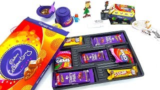 Cadbury Dairy Milk Celebrations Pack Opening | KinderJoy Gems Bus Lickables And More Candy Unboxing thumbnail