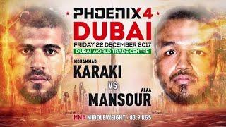 Video Mohammad Karaki vs Alaa Mansour Full Fight (MMA) | Phoenix 4 Dubai | December 22nd 2017. download MP3, 3GP, MP4, WEBM, AVI, FLV Juli 2018