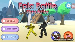 Ligue epic battle simulator j1 1er partie