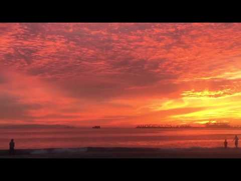 Long beach california sunset