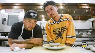 Roy Choi and Dumbfoundead Freestyle the Ultimate Korean Pancake