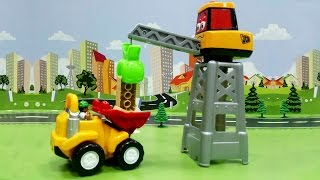 Мультик про машинки - Большая стройка. Игрушечные мультфильмы для детей про рабочие машины.