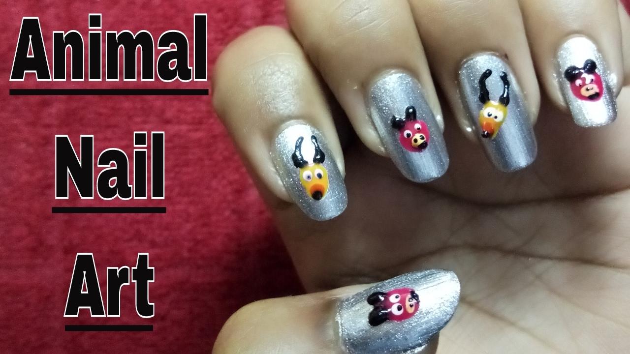 Cute Animal Nail Designs And Animal Print Nail Designs Youtube