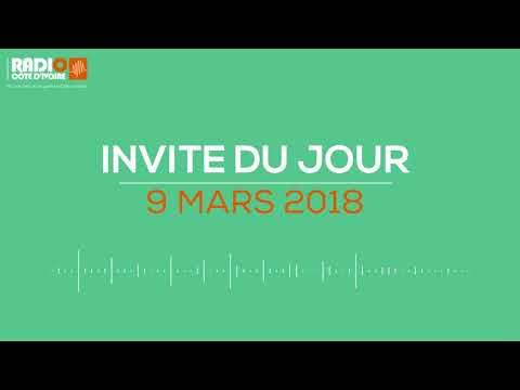 """""""L'invité du jour"""" avec Agnès Kraidy (Journaliste) 9 mars 2018 - Radio Côte d'Ivoire"""