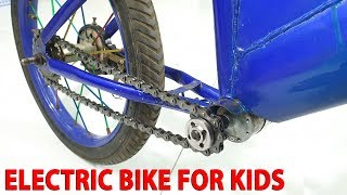 Build Electric Bike for Kids With 775 Reducer Motor
