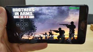 Brothers in Arms: D-Day Android gameplay with PPSSPP emulator/Snapdragon 821/PSP games