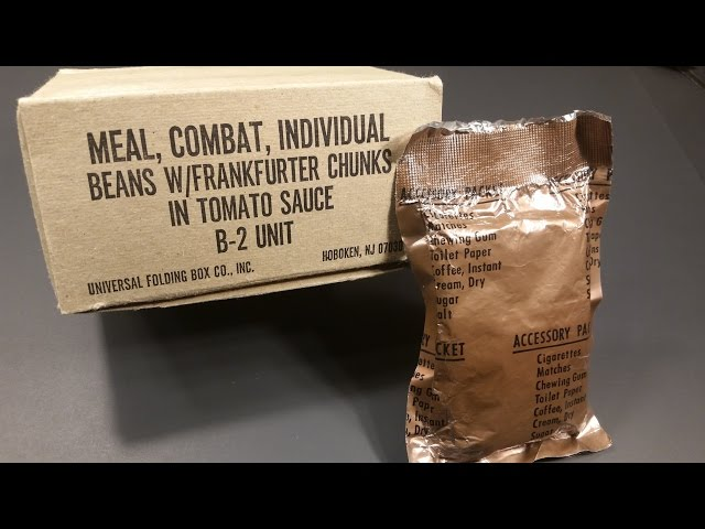 1980 C Ration Beans & Franks & 1962 Accessory Packet Review Vintage MRE Testing