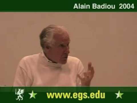 Alain Badiou. Political Perversion and Democracy. 2004 12/12