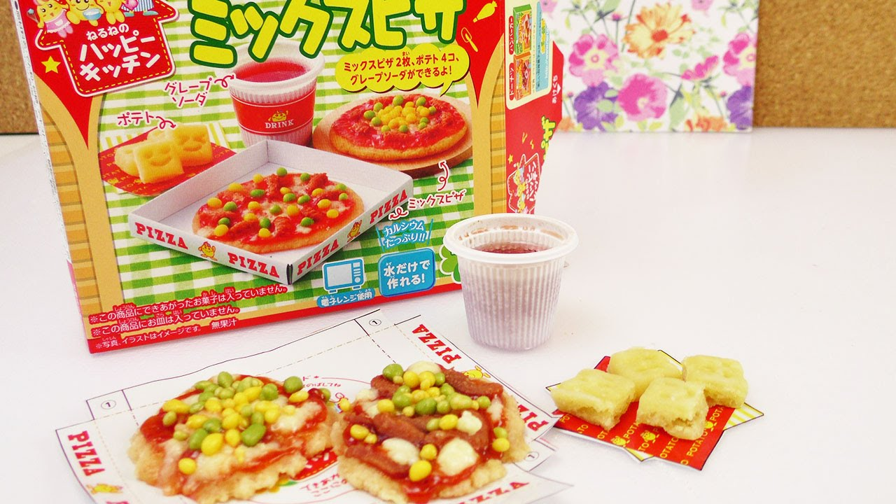kracie popin 39 cookin 39 pizza mix demo japanische s igkeiten pizza selber machen diy youtube. Black Bedroom Furniture Sets. Home Design Ideas