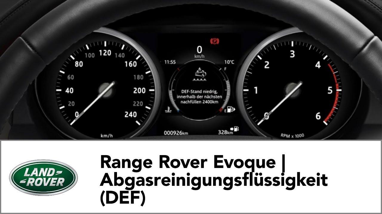 range rover evoque abgasreinigungsflussigkeit def