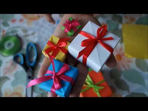 Easy DIY origami simple tuto box for gift / jewellery/ regalo/ cadeau