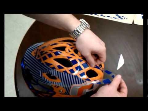 Team Fitz Graphics Warrior TII Helmet Wrap YouTube - Custom graphic vinyl decals for motorcycle helmets