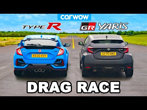 Toyota GR Yaris v Honda Civic Type R - DRAG RACE