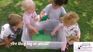 Blossom Village babies learning all about frogs