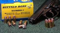 9mm MAKAROV Buffalo Bore 95gr +P JHP Ballistic Gel Test!