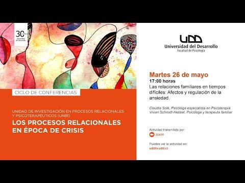 """Charla """"Las relaciones familiares en tiempos difíciles: Afectos y regulación de la ansiedad"""""""
